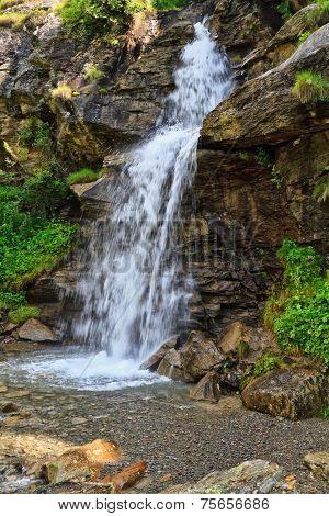 Small Waterfall In Val Di Pejo