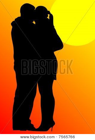 Couples on sun