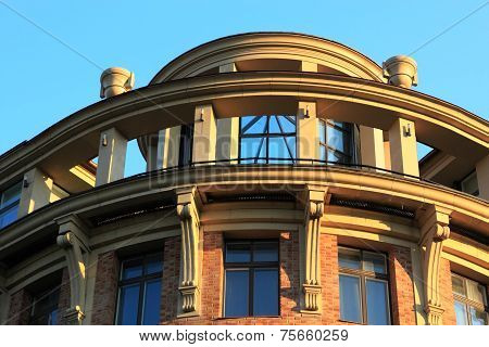Detail Of Building In New Classical Style
