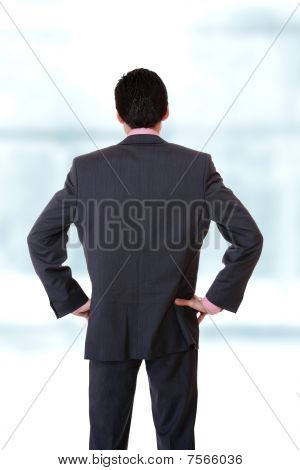 Young Business Man Standing