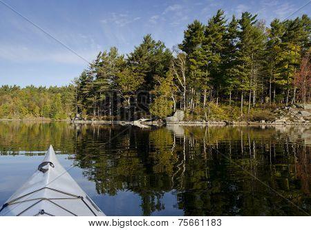 Kayak On Tranquil Lake