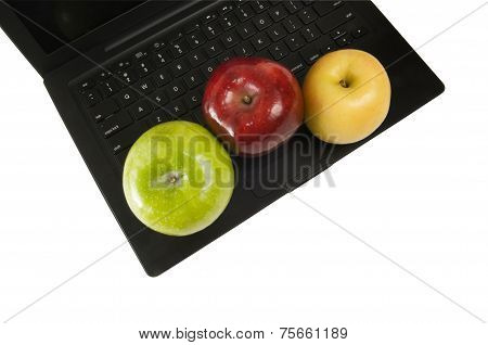 Laptop And Apples