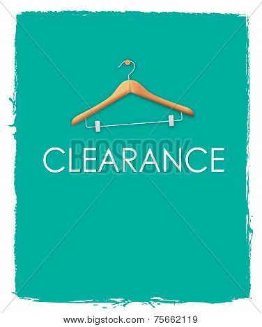 Green Clearance Sale Poster