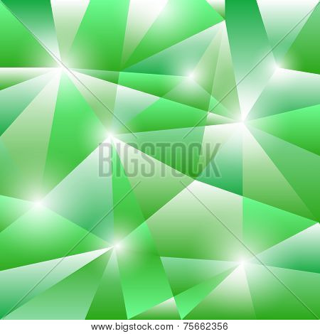 Geometric Pattern With Green Triangles Background