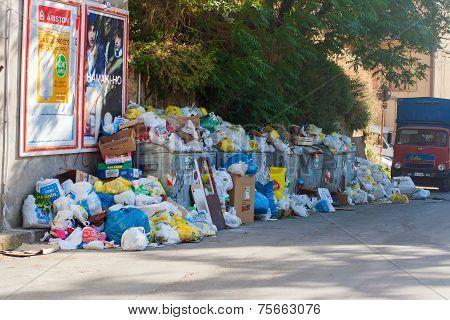 Rubbish dumped