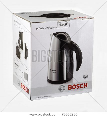 Cardboard Box Of Bosch Cordless Electric Kettle