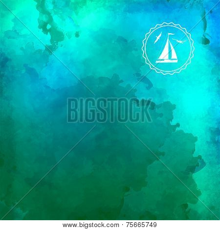 Abstract Vector Watercolor Background