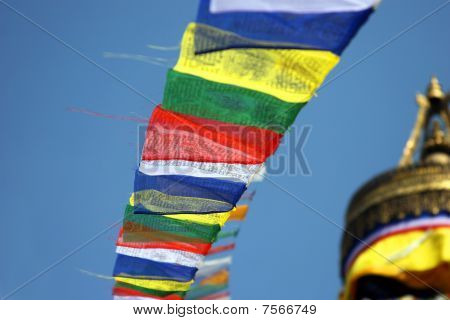 Prayer Flags At Boudnath Stupa