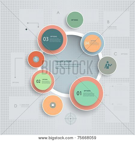 Infographic Vintage Textured Background