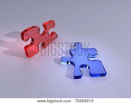 glas puzzle parts