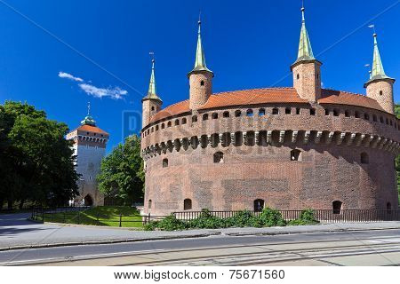 Barbican and St.Florian's Gate in Cracow - Poland