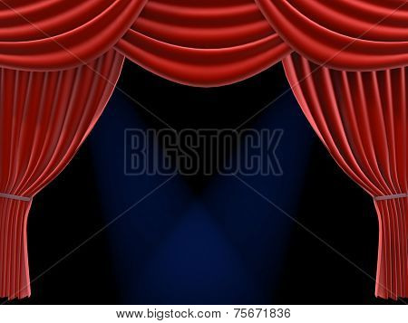 curtain and spotlights
