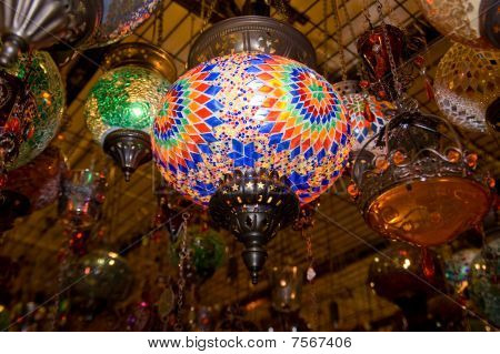 Turkish Lamps In Grand Bazaar, Istanbul, Turkey