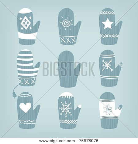 Set Of Christmas Mittens