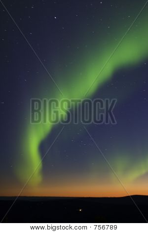 Northern Lights Over Twilight