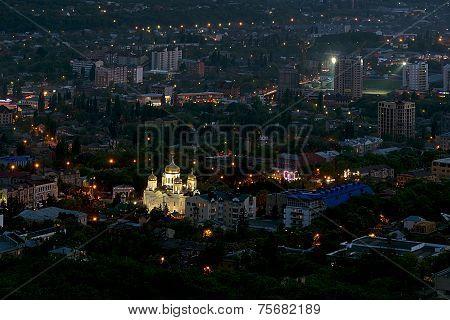 Night city. Pyatigorsk.