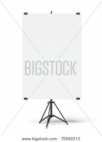 Tripod with blank sheet