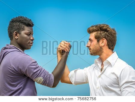 Afroamerican And White Man