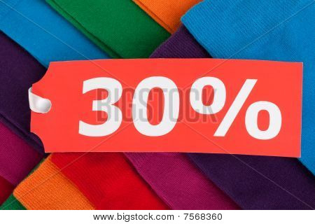 Clothes With Sale Tag