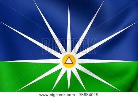 Flag Of Uberlandia, Brazil.
