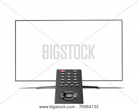 remote control and the blank  TV screen
