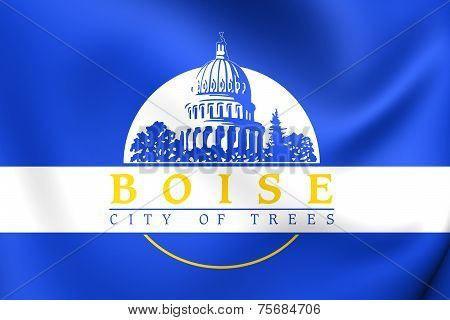 Flag Of Boise, Usa.