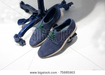 Blue Suede Casual Shoes