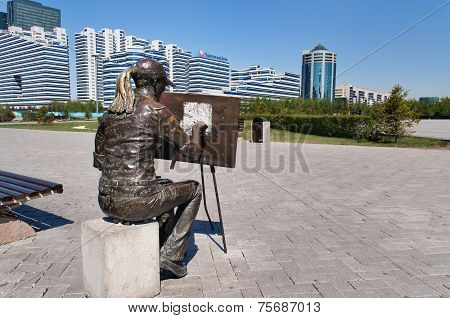 Sculpture The Artist In Astana