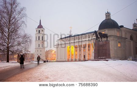 Vilnius Cathedral At Dawn
