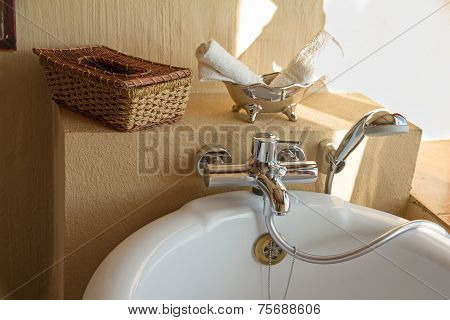 Bathroom In A African Lodge