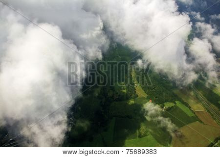 Clouds And Green Landscape