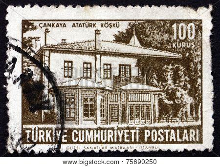 Postage Stamp Turkey 1963 Ataturk's Home, Cankaya