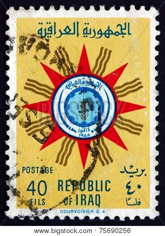 Postage Stamp Iraq 1959 Emblem Of Republic