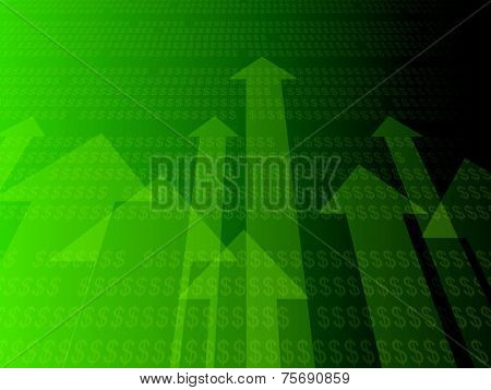 3d rendered illustration of a dollar statistic