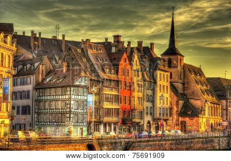 Buildings At The Embankment In Strasbourg - France