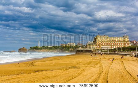 Grande Plage, A Beach In Biarritz, France
