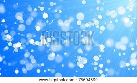 Bokeh - White Circles, Blue Background
