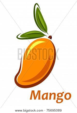 Cartoon mango fruit sketch