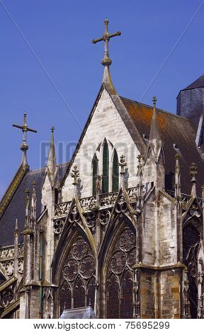Stone details of a Gothic church