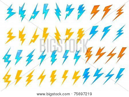 Lightning bolts or electrical icons