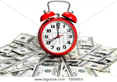Alarm Clock Over Dollars