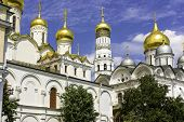 picture of breathtaking  - Breathtaking Famous The Annunciation Cathedral and The Archangel Cathedral in Moscow Kremlin - JPG