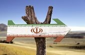 picture of tabriz  - Iran sign with a desert on background  - JPG