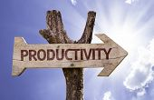 picture of maxim  - Productivity sign with a beautiful day on background  - JPG