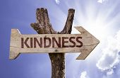 picture of jesus sign  - Kindness wooden sign on a beautiful day - JPG