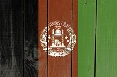 stock photo of civil war flags  - Afghanistan flag on wooden background - JPG