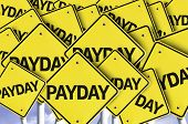 pic of payday  - Payday written on multiple road sign - JPG