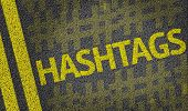 image of hashtag  - Hashtags written on the road - JPG