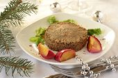 image of liver fry  - Liver pate with fried apples for Christmas - JPG