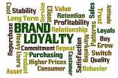 image of loyalty  - Brand Loyalty word cloud on white background - JPG